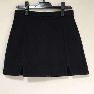 [TOPSHOP] Black textured Skirt