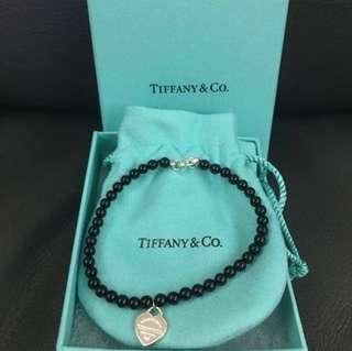 🈹全新原裝正版Tiffany黑瑪瑙串珠手鍊