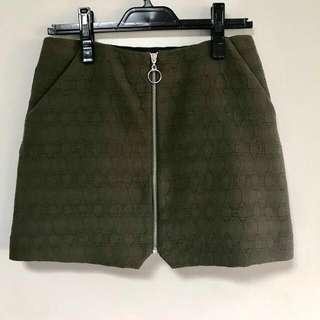 [TOPSHOP] Skirt with Front Zip