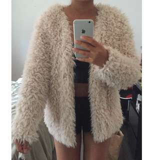 Fur Coat - Beige