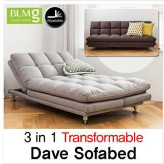 Brown Sofabed 3 in 1 Transformable
