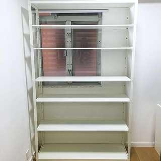 🈹IKEA白色鋼材置物架書架/IKEA steel shelf bookshelf