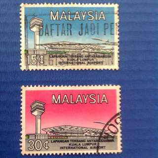 Malaysia 1965 Opening of International Airport 2V Set Used SG18-19 (0206)