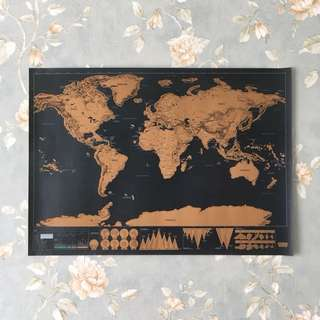 Scratch-Off Travel Map