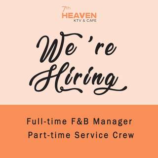 Full-time F&B Manager / Part-time Service Crew