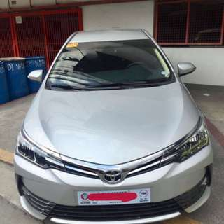 Toyota Altis 2018 1.6g (one month old)