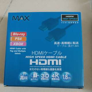 High speed HDMI cable 1.8m