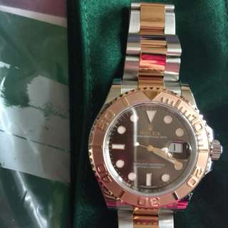 Rolex Yacht-Master 40 Rolesor Everose Large size with Guarantee Card (5 years) New bought from Swiss