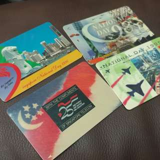 Singapore Old Phone Cards - National Day