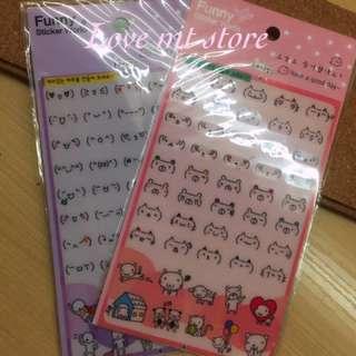 韓國表情😇手帳貼紙
