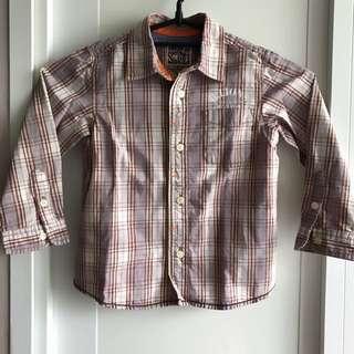 Boy Long Sleeve Buttoned Shirt