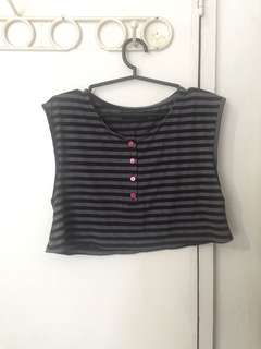 Stipes crop top