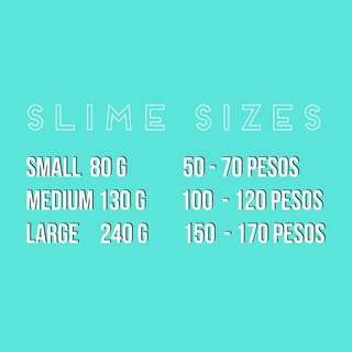 Sizes of Slimes