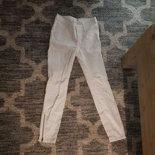 White cord jeans