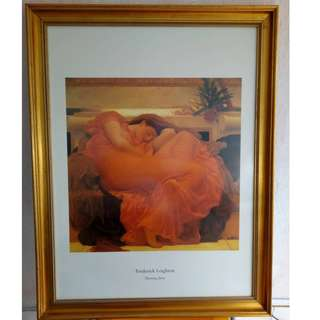 Flaming June by Frederic Lord Leighton (1830-1896)
