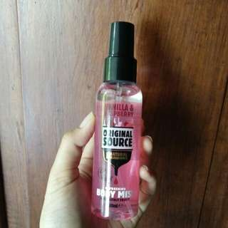 Original Source Body Mist ( Vanilla Raspberry )