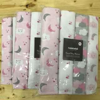 Holabebe Blanket 4 in 1 Set (BIG) 102cm x 76cm Bedung Bayi