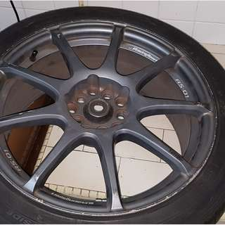 "Very good condition 6 month old 17"" Sports rims with new Tyres for sale at $555. Bought for $1200 whole set"