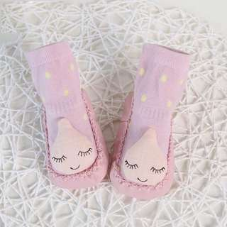 🐰Instock - pink cloud shoes socks, baby infant toddler girl children sweet kid happy 123456789