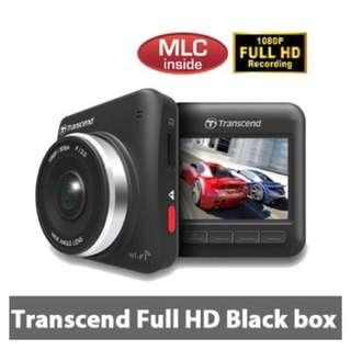 Transcend Full HD car dash camera with 32GB memory card