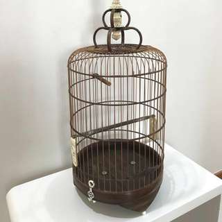 "10"" Mee Sua Rosewood bird cage with full ivory"