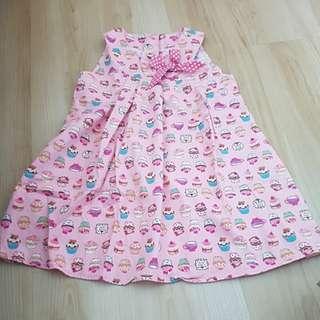 Cupcakes Pink Dress (4-5yo)