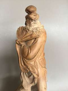 25cm Zhong Kui wood carving