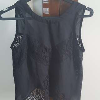 A line top with lace details