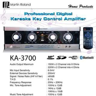 Martin Roland Karaoke Set KA3700 c/w Bluetooth & Key Control