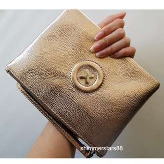 New! Mimco Metallic Rose Gold Daydream M Medium Pouch RRP$99.95
