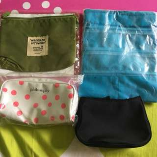 New set of 4 pouches for sale