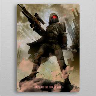 Destiny Hunter - Gaming Character Metal Poster (Easy Magnet Mounting)