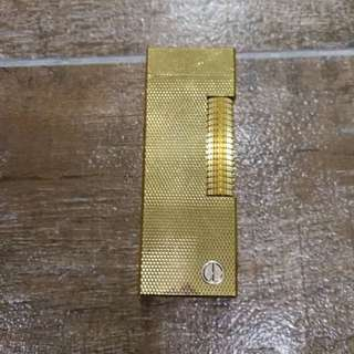 Rare Alfred Dunhill Gold Plated Barley Design Rollagas Dunhill Lighter