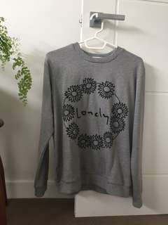 Lonely hearts club daisy chain crew sweater