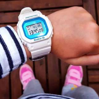 RARE🌟SEEN CASIO BABYG 200m DIVER WATCH : 1-YEAR OFFICIAL VALID WARRANTY: 100% Originally Authentic BABY-G-SHOCK Resistant In SUPER ILLUMINATOR LIGHTS Best Gift For Most Rough Users & Unisex too : BGD-501FS-7DR / / DW-5600