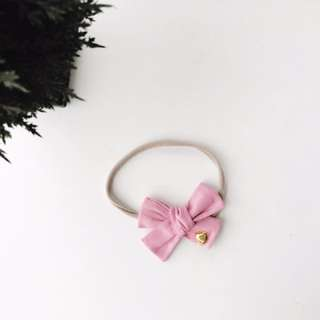 Hand tied School girl bow headband