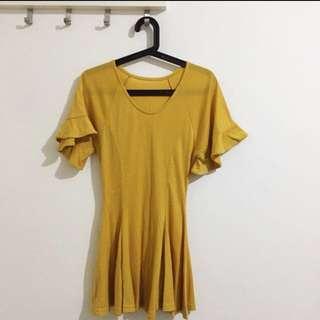 Brand New Mustard Skater Dress