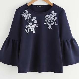 Preorder Embroidery Top