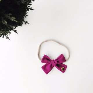 Hand tied School girl bow headband
