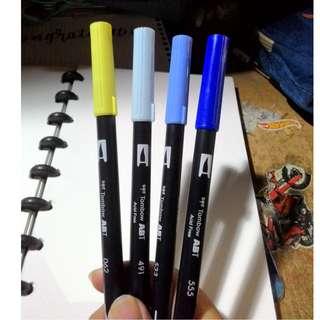 Tombow dual brush pen (062, 491, 533, 555)