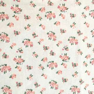 Sweet Flower 🌷 fabric/kain diy cute cotton linen cloth