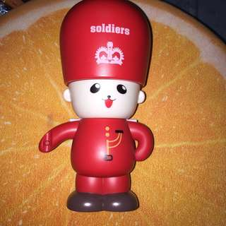 Red Soldier Piggy Bank/Coin Bank