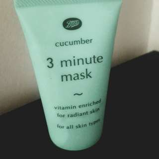 *New* Boots 3min cucumber mask