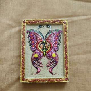 Kruba Krissana Butterfly With 16 Yant Amulet