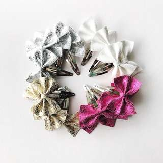 Snap clips bows sets