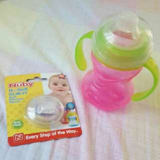 Nuby No Spill Click it with silicone spout