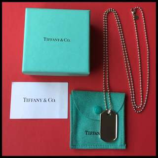 Genuine Tiffany & Co Coin Edge Tag Necklace