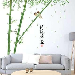 bamboo & birds (double stiker)