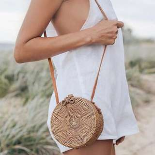 Ribbon Straw Bag