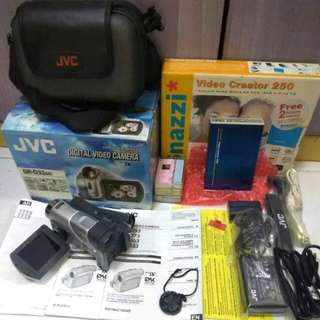 WTS JVC Vintage Camcorder Tape Brand New Snazzi Video MPEG Maker Extra Tapes Mint